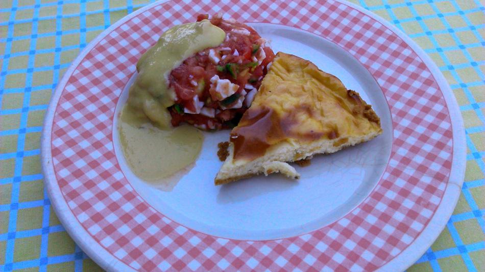 Cheesecake salado con Pipirrana en Thermomix®