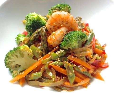 Como preparar verduras al vapor para ensalada