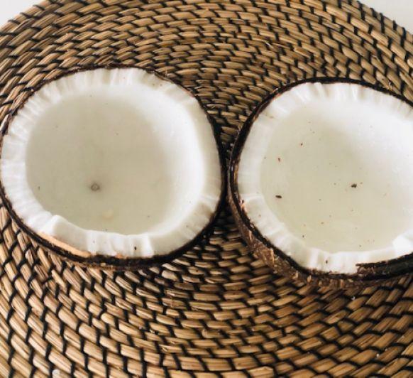 Bebida de Coco casera. Version Keto , sin azúcar, miel, aceites no permitidos