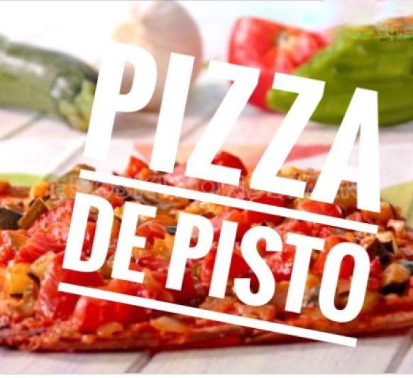 PIZZA DE PISTO DE VERDURAS Y JAMÓN SERRANO