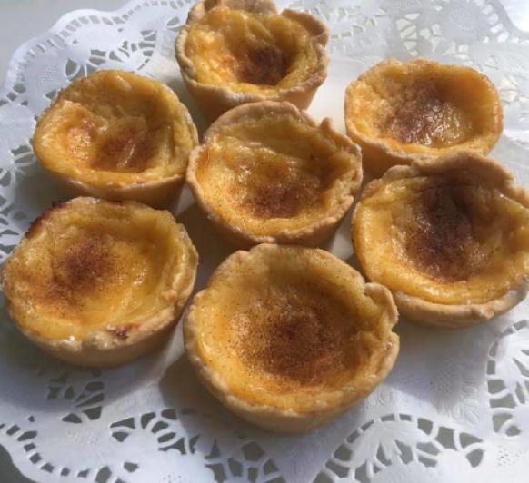 Pasteles de nata con tartaleta casera
