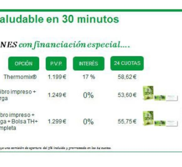 Financiación al 0% de interés