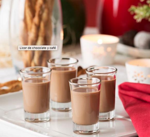 Licor de chocolate para Noche Vieja