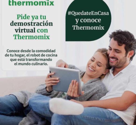 """""""Quédate en casa"""" y conoce Thermomix® sin salir de ella."""