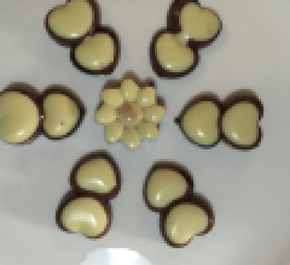 bombones de turrón tres chocolates