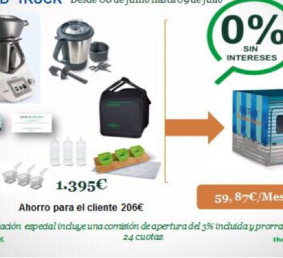Thermomix® CON FINANCIACIÓN AL 0% HASTA EL 23 DE JULIO !!!!!!!!!